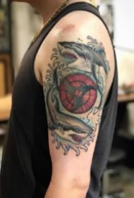 帅气的火影忍者写轮眼纹身图案