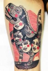复古怪诞诡异的纹身图案