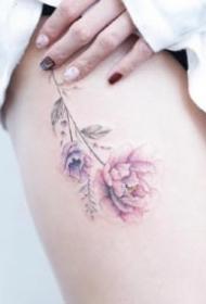 女生喜欢的粉色系小清新纹身图案