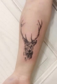 9张好看的小鹿角纹身图案精选