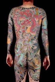 Stewart Robson传统日式大满背纹身图案