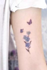 唯美小清新的蝴蝶纹身图案