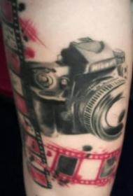 几款复古的照相机纹身图案