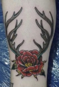 几款漂亮的小鹿角纹身图案