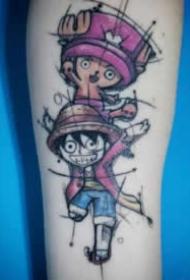 海贼王动漫角色纹身图案精选