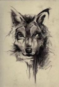 15款关于狼的纹身图案和手稿
