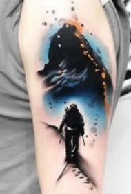 个性创意的水墨纹身图案精选