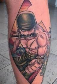 海贼王动漫人物路飞等纹身图案