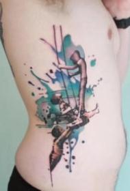 唯美的水彩色纹身图案大全
