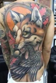一组霸气的大满背纹身图案