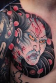 传统的胸胛半甲纹身图案大全