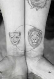 简单好看的情侣纹身图案大全