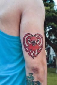 可爱有创意的爱心纹身图案