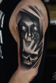 关于面具的恐怖纹身图案大全