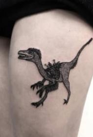 卡通的小恐龙纹身图案