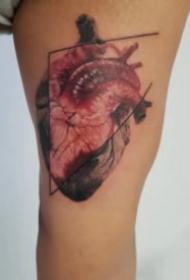 个性的心脏纹身图案大全