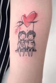 心形气球主题卡通小纹身图案大全