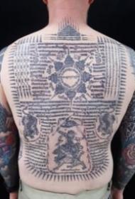 泰国的宗教刺符纹身图案大全
