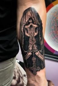 死神主题的纹身图案大全