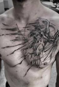 男性胸前的个性纹身图案大全