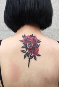 女生后背的小纹身图案大全