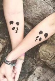 情侣恋人成对的小清新纹身图案