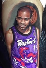 包臂写实篮球明星纹身图案大全
