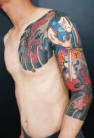 男性传统的大花臂纹身图案大全