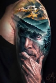 超逼真的欧美写实人像纹身图案