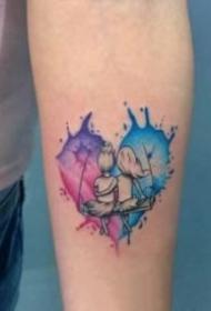 创意的心形纹身图案大全