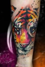 重水彩的动物纹身图案大全