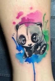 小清新的可爱小动物纹身图案