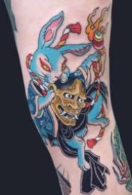 日式传统的多种动物动物纹身图案