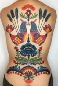 彩色school的小清新纹身图案大全