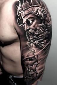 9张帅气的欧美写实手臂纹身图案