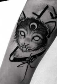 暗黑风格的一套黑色纹身作品欣赏