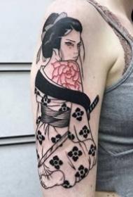 18组日本艺妓女郎纹身图案