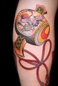 9张日式传统的小福鼓纹身图案