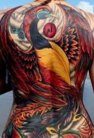 女生漂亮的大满背纹身图案欣赏