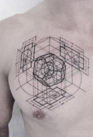 9张个性的几何图形纹身图案