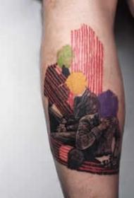 暗彩色的插画纹身图案欣赏
