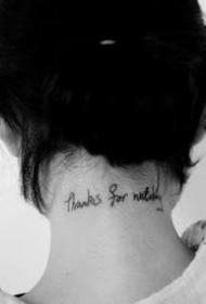 简约的小英文字母纹身图案9张