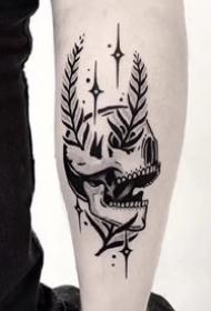胳膊上的黑灰点刺纹身图案大全