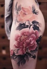中国传统水墨风格的纹身作品推荐