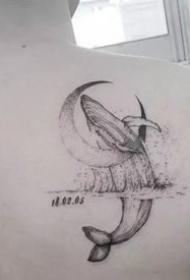 很漂亮的鲸鱼纹身图案欣赏