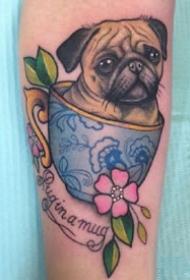 一组宠物猫狗纹身作品欣赏