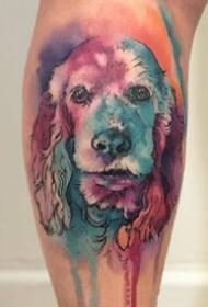 水彩泼墨的动物纹身图案大全