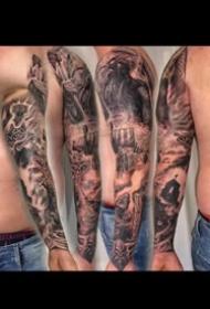 9组欧美写实风格的大花臂纹身图案