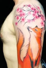 9张关于狐狸的纹身图案推荐
