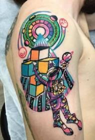 有创意的一组彩色oldschool纹身作品